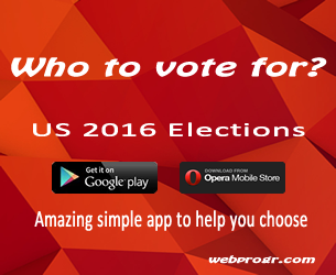 US 2016 elections who to vote for app